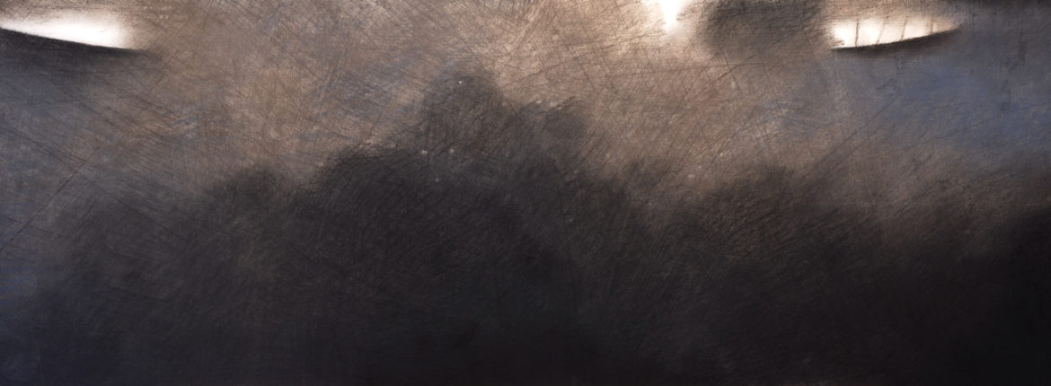 Distanza, 1998, Pastello su cartoncino, 250 x 700 mm.