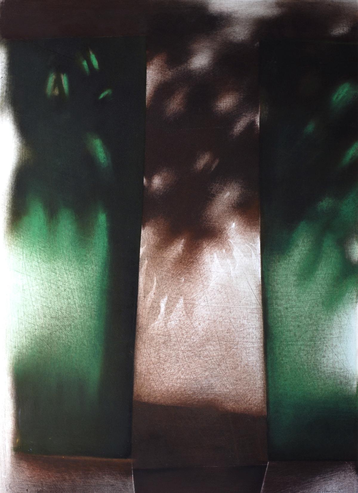 La porta, 1993, Pastello su cartoncino, 510 x 365 m