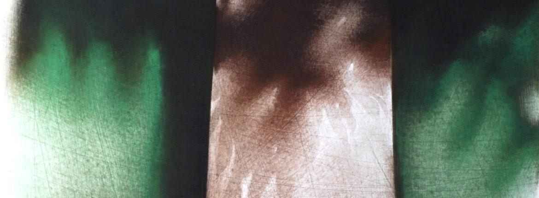 La porta, 1993, Pastello su cartoncino, 510 x 365 mm.