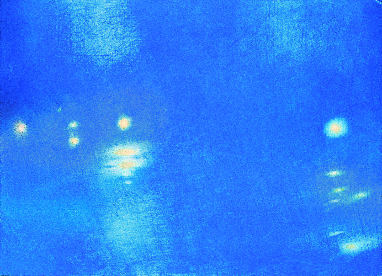 Memoria d'acqua, 2000, pastello su cartoncino, 36'5 x 51 cm.