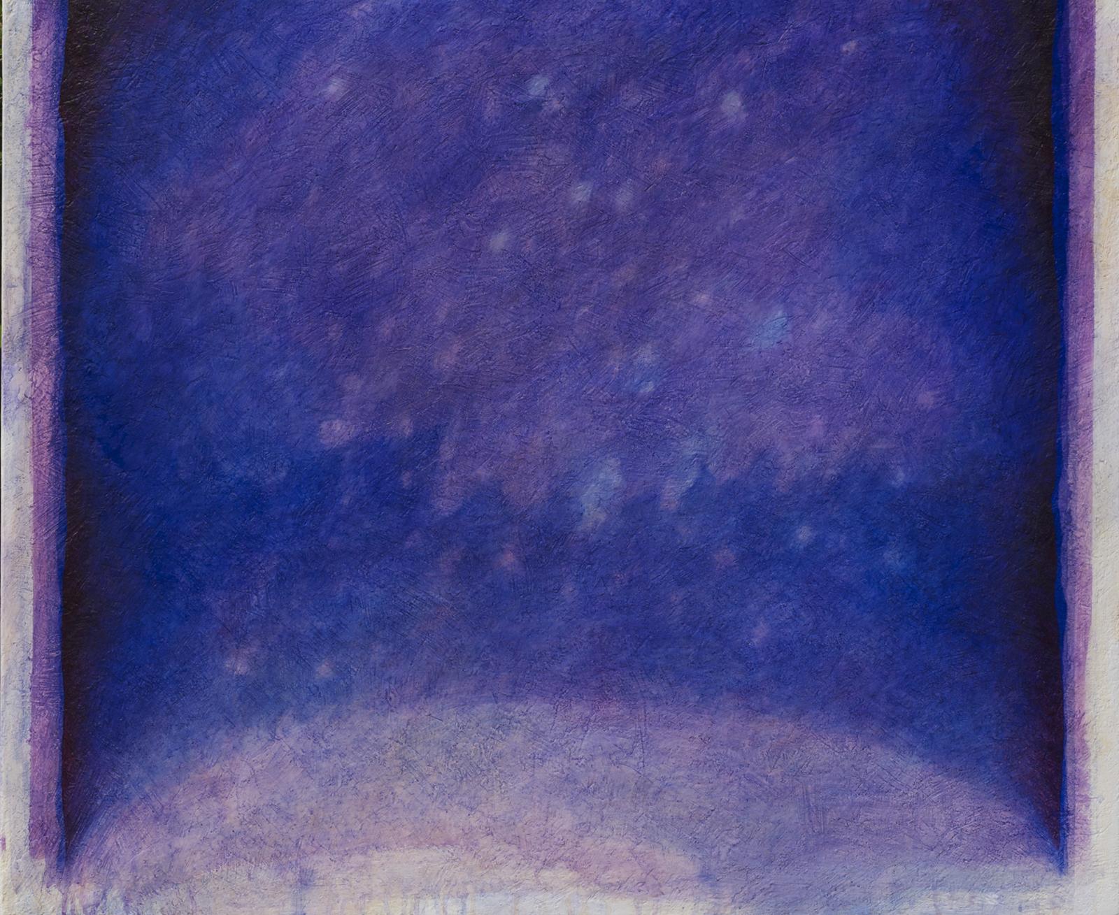 Nella radura 1, 2011, acrilico e olio su tela, cm. 100 x 120