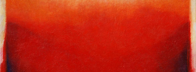 Rosso cadmio, 2009 acrilico e olio su tela 100 x 120 cm