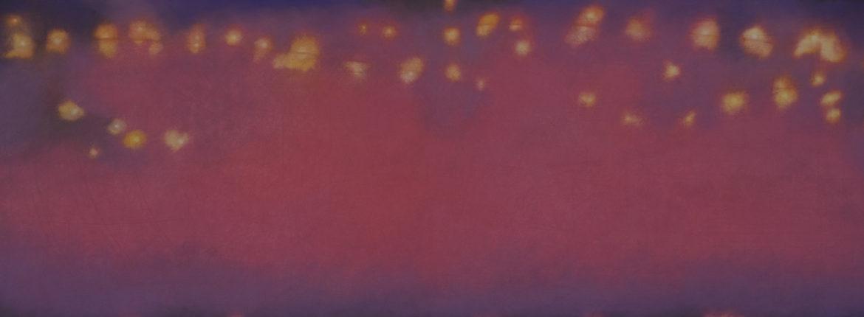 Verso sera, pastello su cartoncino 73 x 204 cm